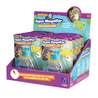 Educational Insights GeoSafari® Jr. Aqua Magnifier Counter Display of 8