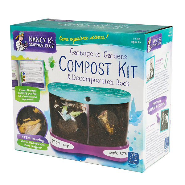 Educational Insights Nancy B's Science Club® Garbage to Gardens Compost Kit & Decomposition Book