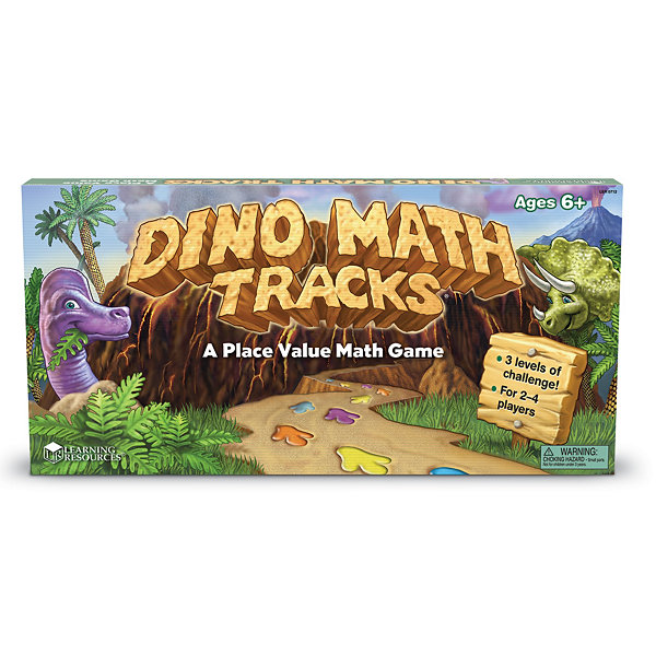 Learning Resources Dino Math Tracks® Place ValueGame