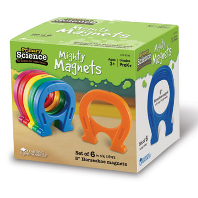 "Learning Resources Primary Science 5"" Mighty Magnets Set of 6"""
