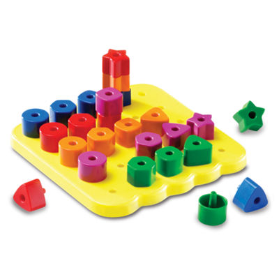 Learning Resources Stacking Shapes Pegboard Activity Set