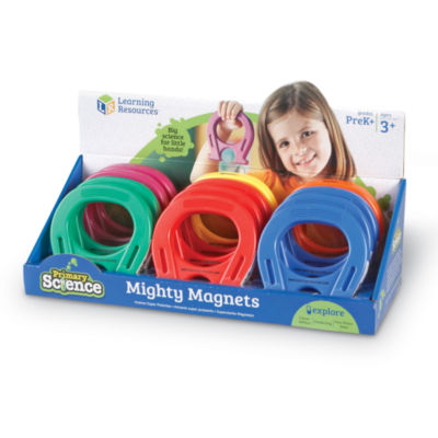 "Learning Resources Primary Science 5"" Mighty Magnets Set of 12"""