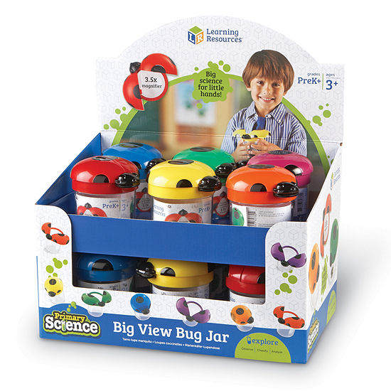 Learning Resources Primary Science Big View Bug Jars Set Of 12 In Display