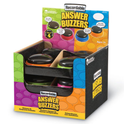 Learning Resources Recordable Answer Buzzers Set of 12 in Display
