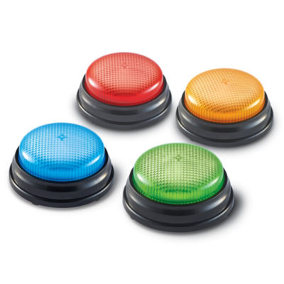 Learning Resources Lights & Sounds Answer BuzzersSet of 4