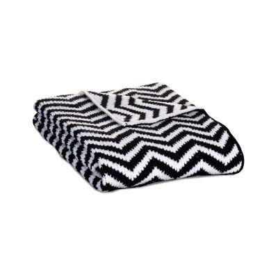 Lolli Living Chevron Chenille Baby Blanket - Black