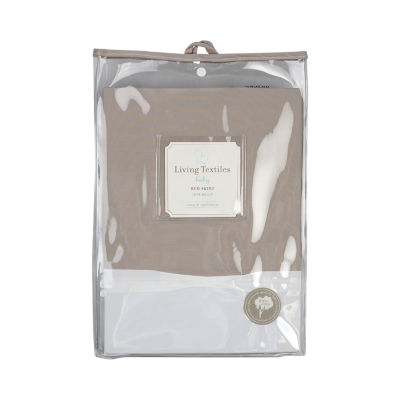 Living Textiles Crib Bed Skirt - Grey