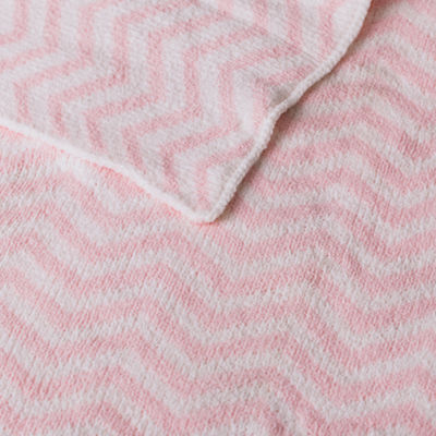 Living Textiles Chevron Chenille Baby Blanket - Pink