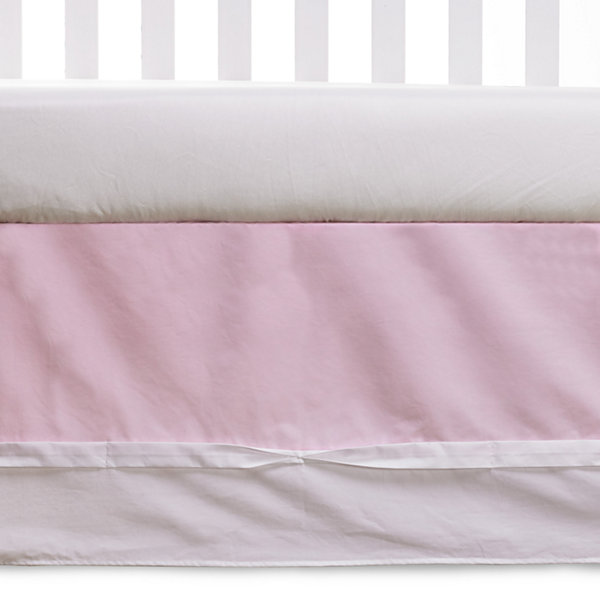 Living Textiles Crib Bed Skirt - Pink