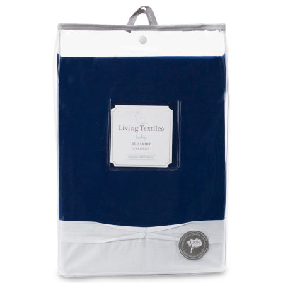 Living Textiles Crib Bed Skirt - Navy