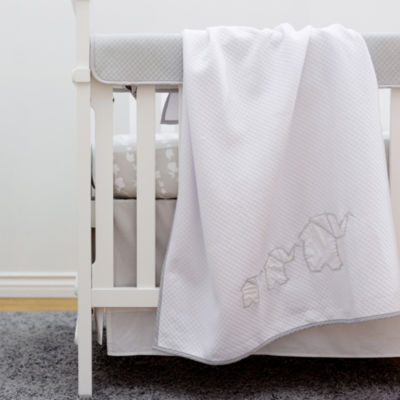 Living Textiles Crib Fitted Sheet - Elephant Parade