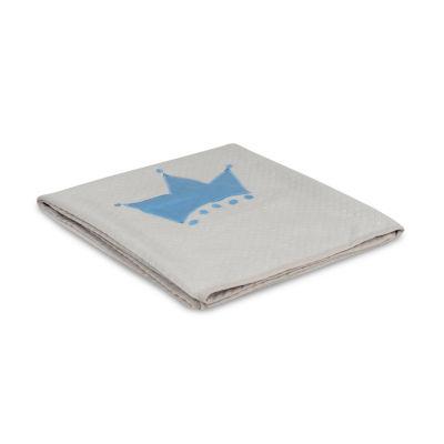 Living Textiles Diamond Matelassé Coverlet - Little Crown