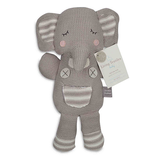 Living Textiles Grey Theodore Elephant Knit Plush