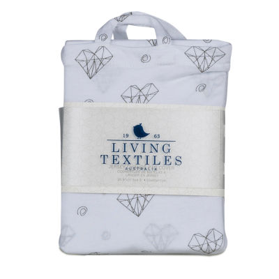 Living Textiles Changing Pad Cover - Paper Hearts