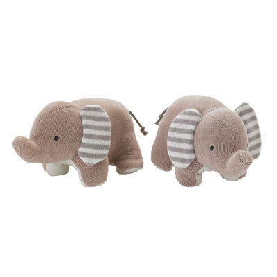 Lolli Living Naturi Bookend Friends - Knit Elephants
