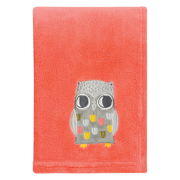 Trend Lab Olive Owl Plush 1 Pair Receiving Blanket