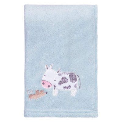 Trend Lab Farm Stack Plush 1 Pair Receiving Blanket