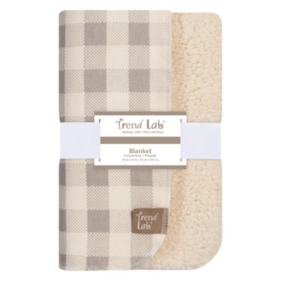 Trend Lab Gray Buffalo Check Flannel 1 Pair Receiving Blanket