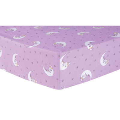 Trend Lab Unicorn Moon Flannel 1 Pair Animals + Insects Crib Sheet
