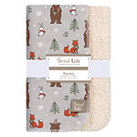 Trend Lab Cup Of Cocoa Flannel 1 Pair Receiving Blanket