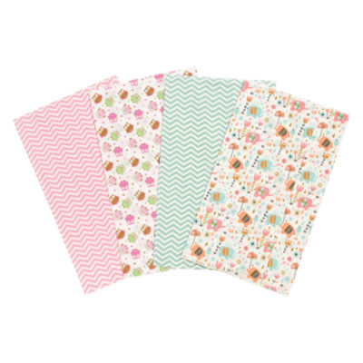 Trend Lab Elephants And Owls Flannel Burp Cloth