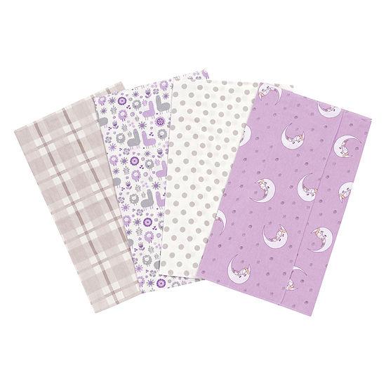 Trend Lab Llamas And Unicorns Flannel Burp Cloth