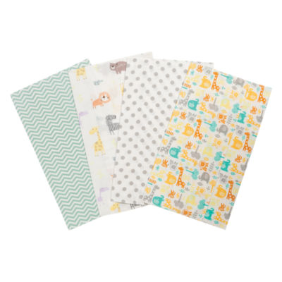 Trend Lab Mint Jungle Flannel Burp Cloth