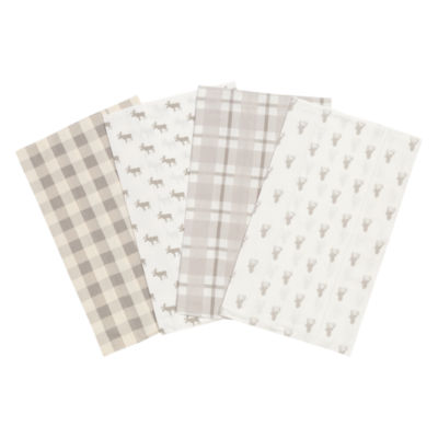 Trend Lab Stag And Moose Flannel Burp Cloth