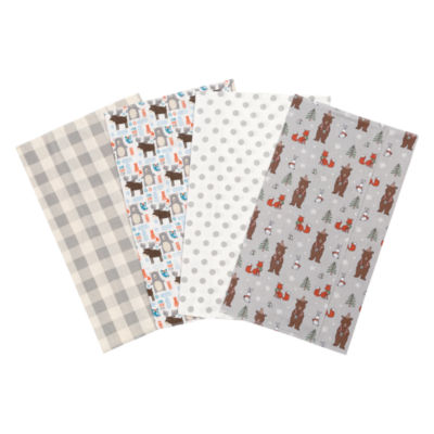 Trend Lab Scandi Cocoa Flannel Burp Cloth