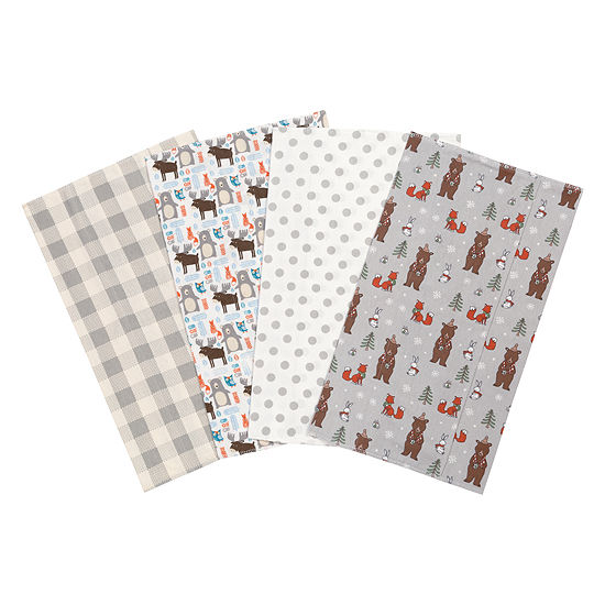 Trend Lab Scandi Cocoa Flannel Burp Cloth
