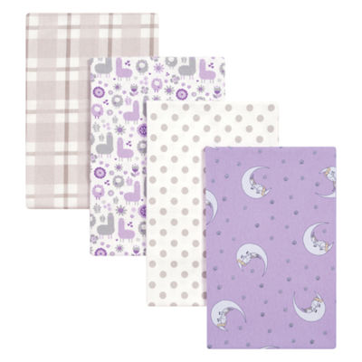 Trend Lab Llamas And Unicorns Flannel 4-pc. Receiving Blanket