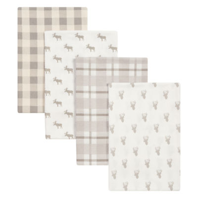 Trend Lab Stag And Moose Flannel 4-pc. Receiving Blanket
