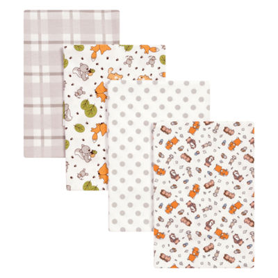 Trend Lab Wild Bunch Flannel 4-pc. Receiving Blanket
