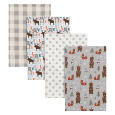 Trend Lab Scandi Cocoa Flannel 4-pc. Receiving Blanket