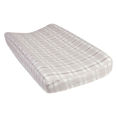 Trend Lab Gray And White Plaid Changing Pad Cover