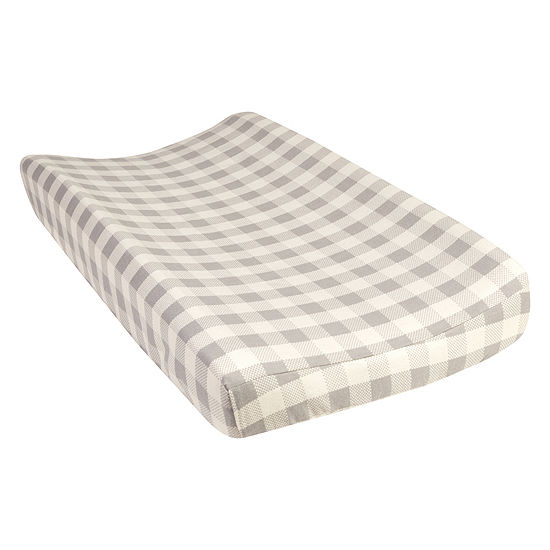 Trend Lab Gray Buffalo Check Changing Pad Cover