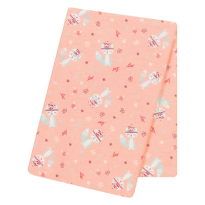 Trend Lab Fox And Flowers 1 Pair Swaddle Blanket