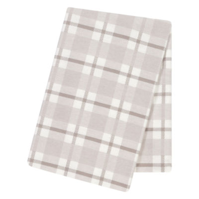 Trend Lab Gray And White Plaid 1 Pair Swaddle Blanket