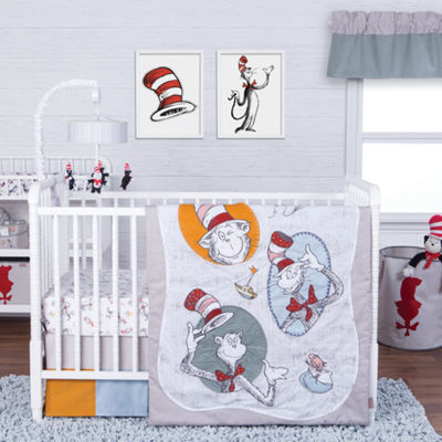 Trend Lab Classic Cat In The Hat  Pc Modern Crib Bedding Set