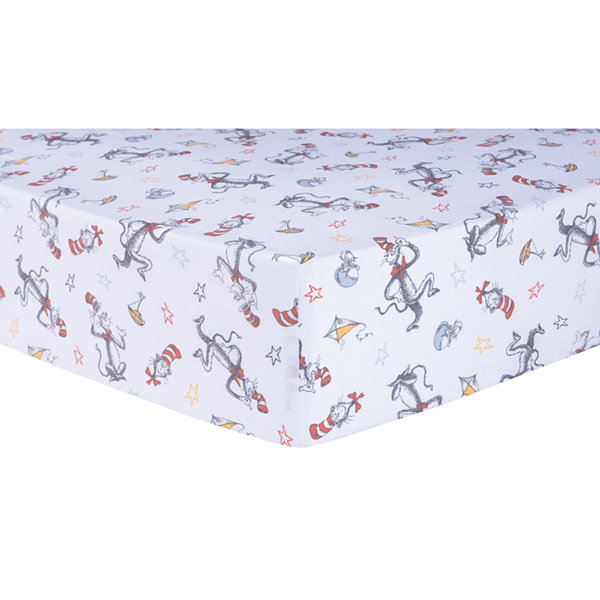 Trend Lab Classic Cat In The Hat Fitted 1 Pair Modern Crib Sheet