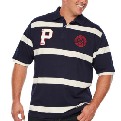 U.S. Polo Assn. Embroidered Short Sleeve Stripe Polo Shirt Big and Tall