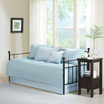 Madison Park Mansfield Quilted Ogee 6 Pc Daybed Cover Set