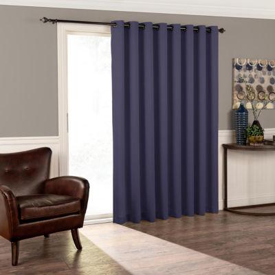 Eclipse Tricia Patio Door Room Darkening Grommet-Top Door Panel Curtain