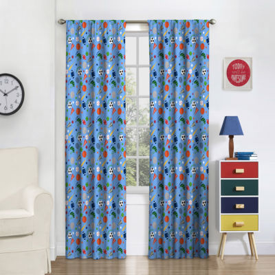 Eclipse Field Day Blackout Room Darkening Rod-Pocket Curtain Panel