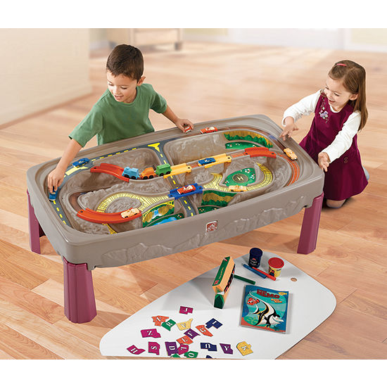 Step2 Deluxe Canyon Rd Train And Track Table With Lid