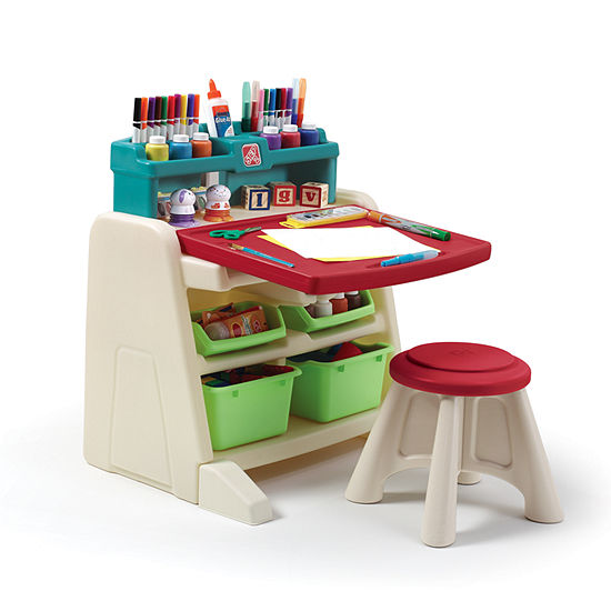 step2 flip and doodle easel desk with stool jcpenney
