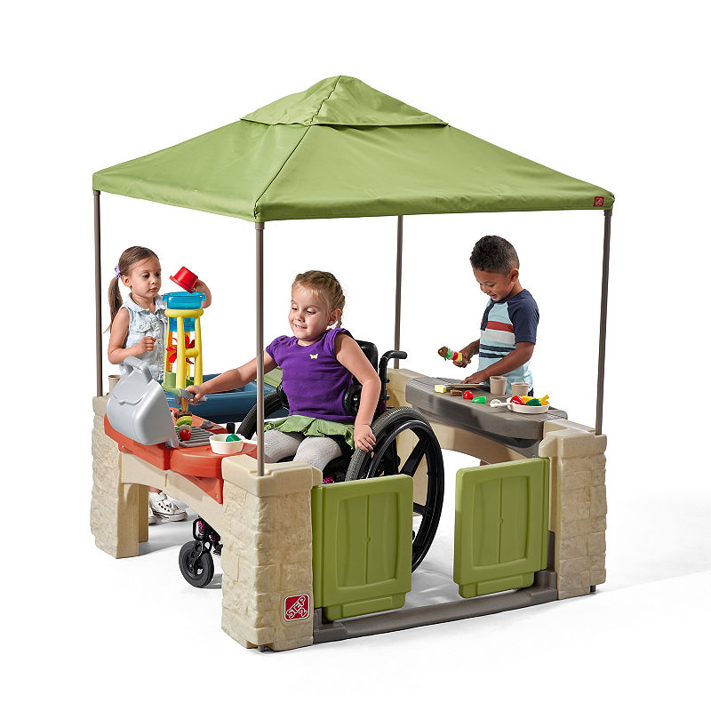 Step2 All Around Playtime Patio with Canopy, Multi-colored, One Size