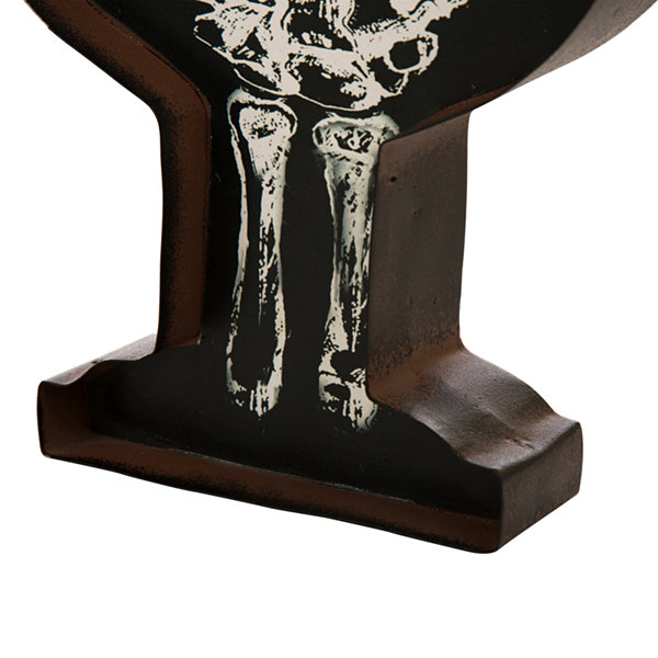Glitzhome LED Candlestick with Skeleton Tabletop Decor