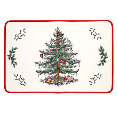 Avanti Spode Red Xmas Tree Sink Mat