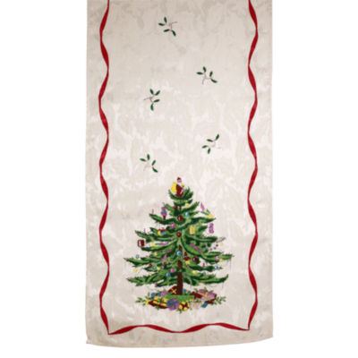 Avanti Spode Red Christmas Tree Table Runner